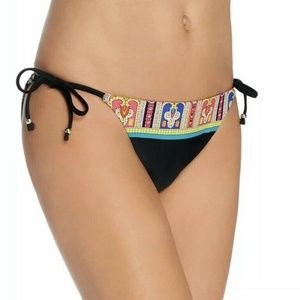 Trina Turk Black Nepal Tie Side Bikini Bottoms 8